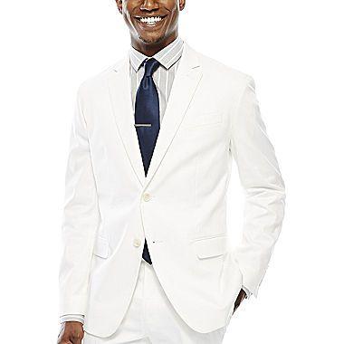 jcp | JF J. Ferrar® White Suit Jacket - Slim Fit