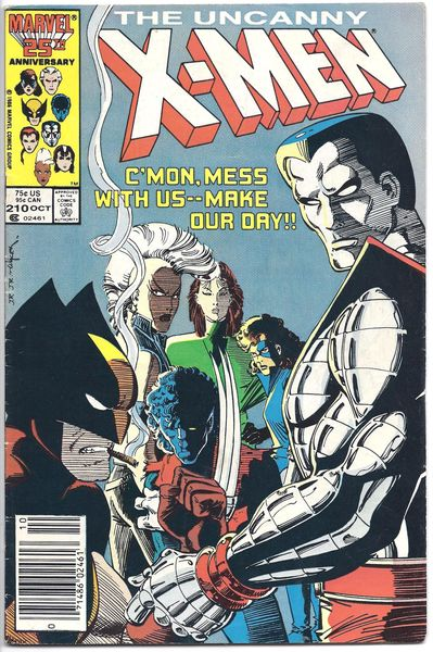 Marvel Comics The Uncanny X-Men #210 FN 6.0 X-Factor - Hellfire Club / Marauders App. - John Romita