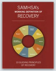 10 Guiding Principles of Recovery (PDF- 2 pgs) Hope, Relational, Person-Driven, Culture, Many Pathways, Addresses Trauma, Holistic, Strengths/Responsibility, Peer Support and Respect