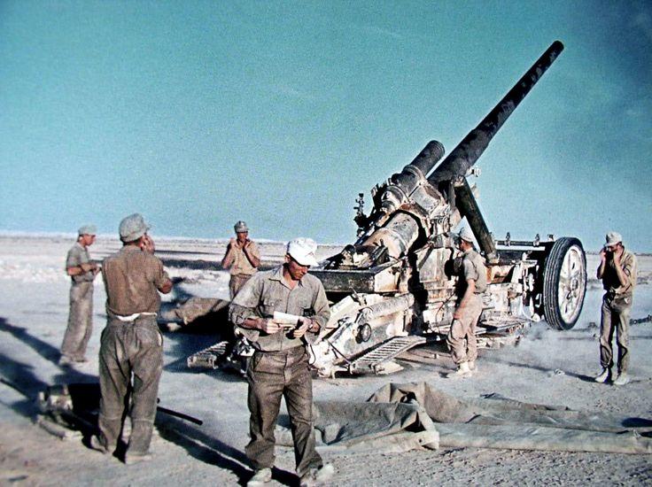 German artillery in northern Africa.