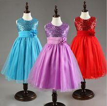 Einzelhandel kinder hochzeit kleid für mädchen kleidung Pailletten prinzessin kleid mädchen partei kleid sleeveless kinder kleidung kostenloser versand(China (Mainland))