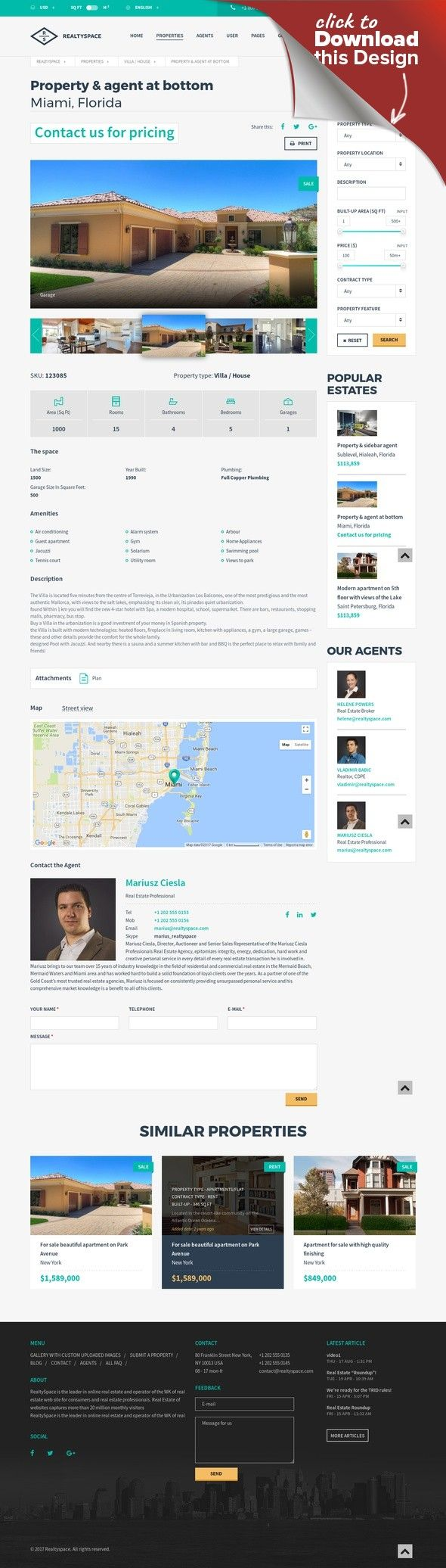 Realtyspace - Real estate WordPress Theme brokerage, business, dsidxpress, google maps and street view, idx, ihomefinder, MLS, paypal payments, property settings, real estate, real estate agent, realestate agency, realtor, realtypress crea ddf Realtyspace – Real estate WordPress Theme Realtyspace is the WordPress Theme for real estate agents and agencies. It has a purpose oriented design and it comes loaded with tons of useful featur...