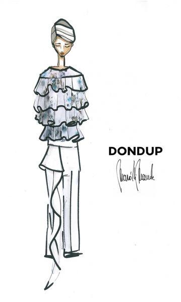 Dondup: in preview per Elle.it gli schizzi della collezione Donna Primavera Estate 2016 presentata alla Milano Fashion Week - Elle
