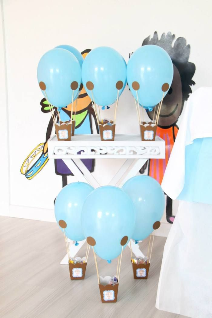 Hot Air Balloon themed birthday party with So Many Cute Ideas via Kara's Party Ideas!