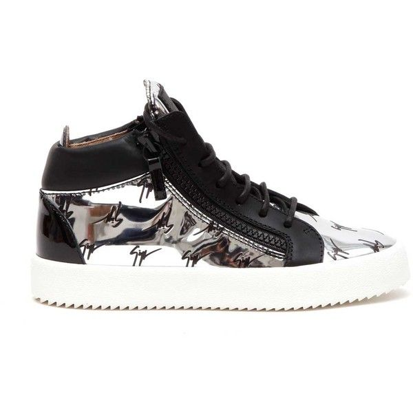 GIUSEPPE ZANOTTI DESIGN 'May' Sneakers With Studs (2.480 BRL) ❤ liked on Polyvore featuring shoes, sneakers, print shoes, giuseppe zanotti, patterned shoes and giuseppe zanotti shoes