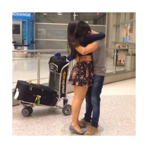 airport hugs Tumblr ❤ liked on Polyvore featuring couples, instagram and fotos