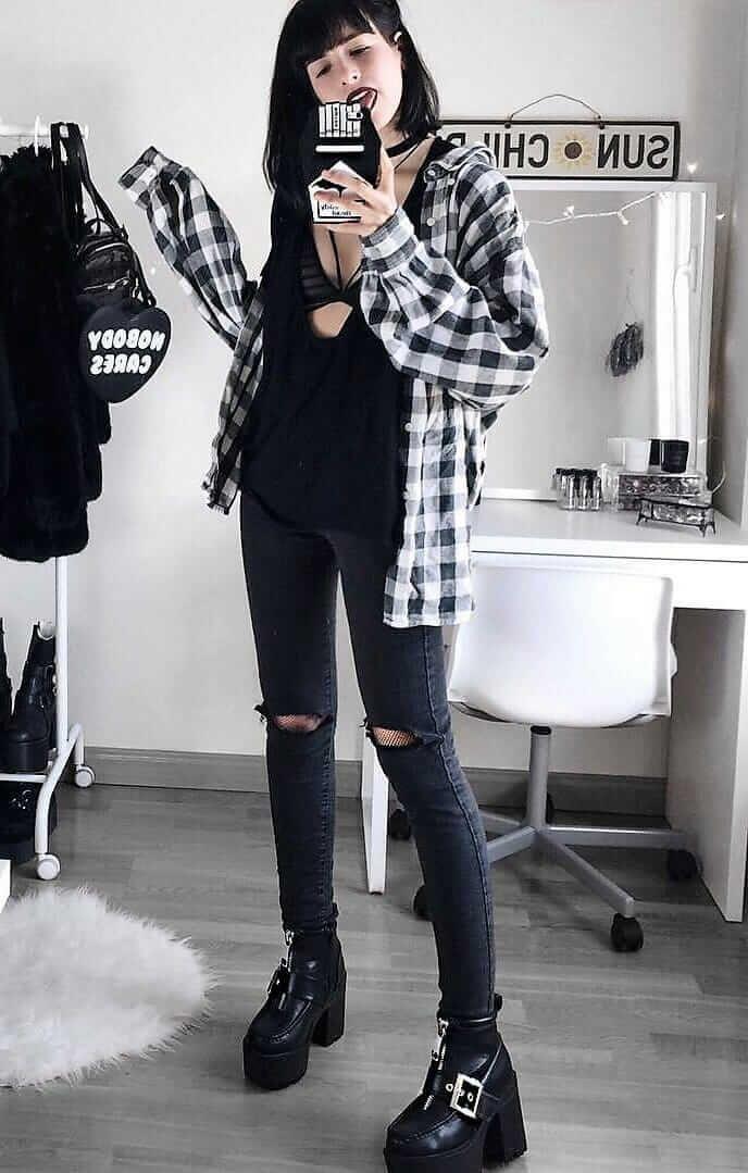 Womens Flannel Shirt Dress