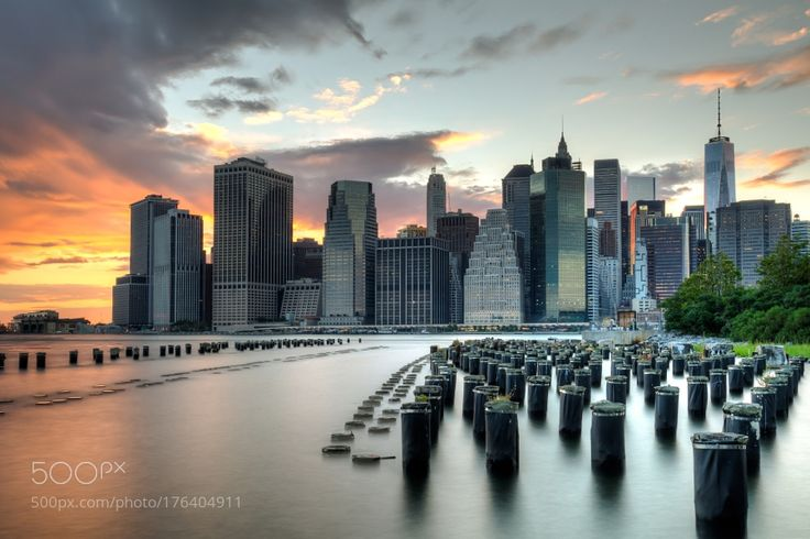 Manhattan Skyline by lukasproszowski. @go4fotos