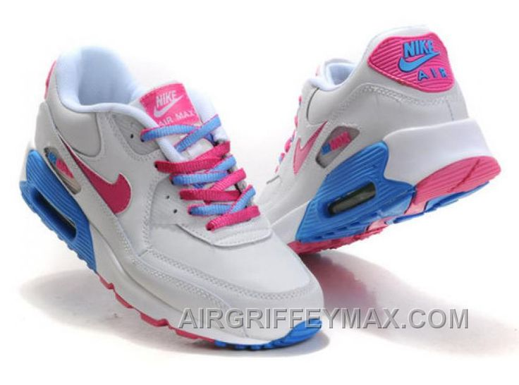 air max 90 white blue pink