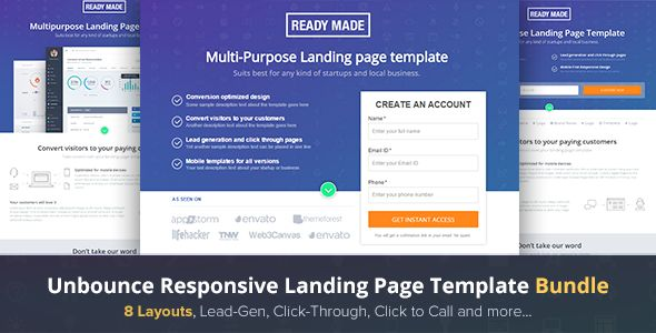 Today, We selected 20 of the best Unbounce Landing Page Templates 2016 which help you build beauty and modern website in no time.