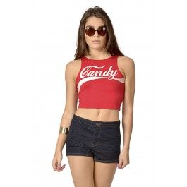 Red Fitted crop top