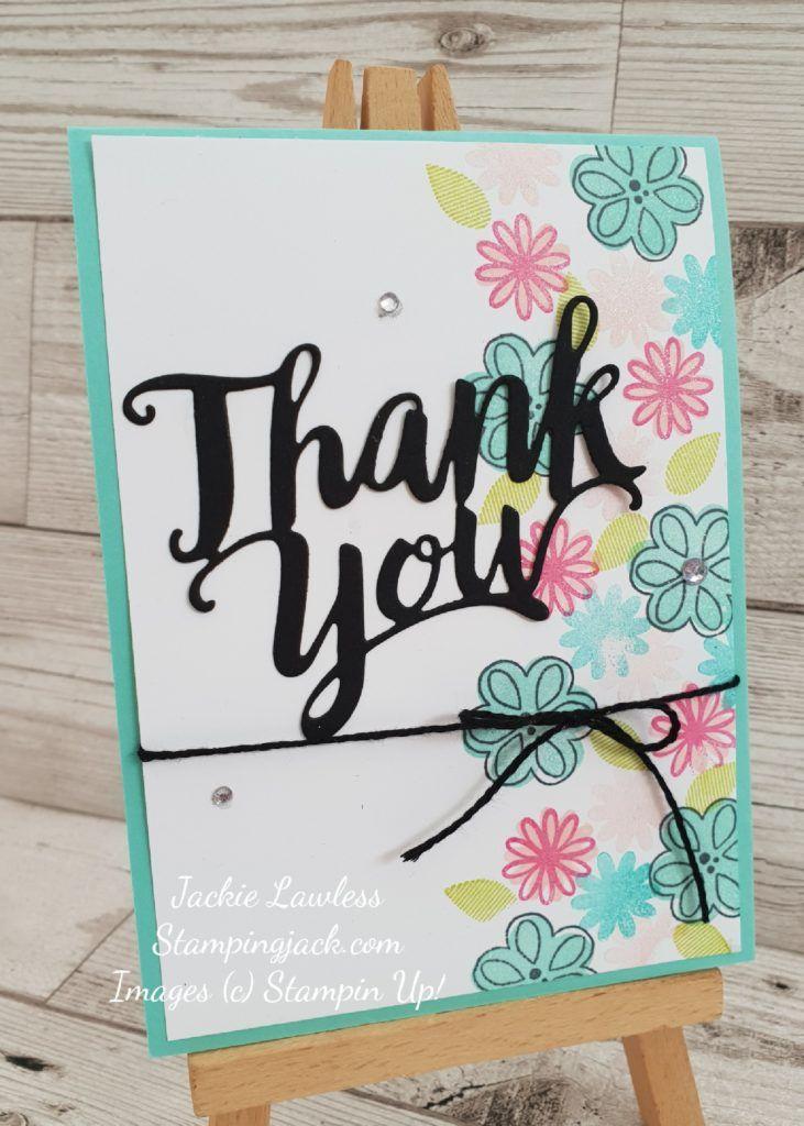 Stampin Up Card Greeting Card Handmade Card Handmade Thank You Card Stampin Up Thank You Card Thank You Card