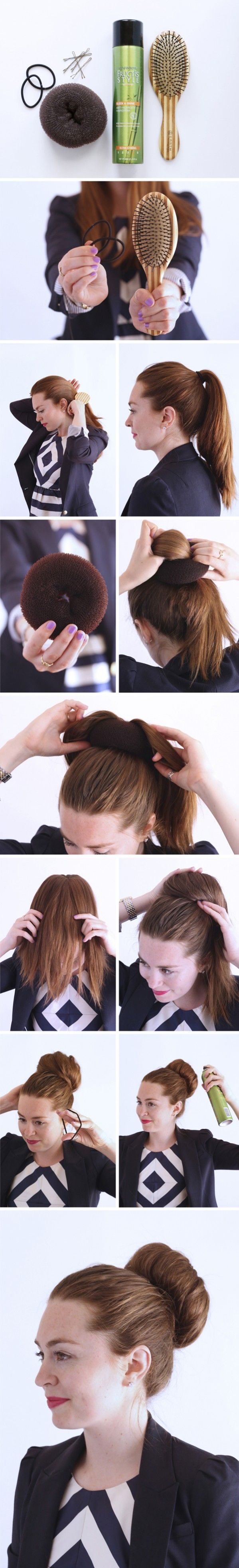 Step by step guide to getting the perfect bun, using none other than my trusty bun donut!