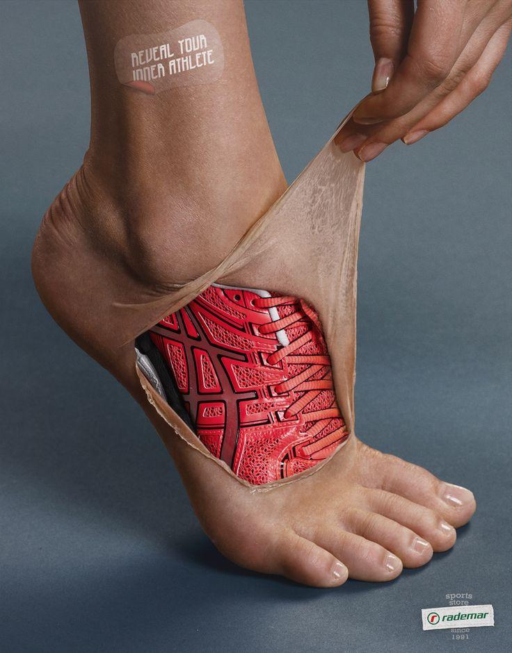 Atrevido diseño de zapatillas.