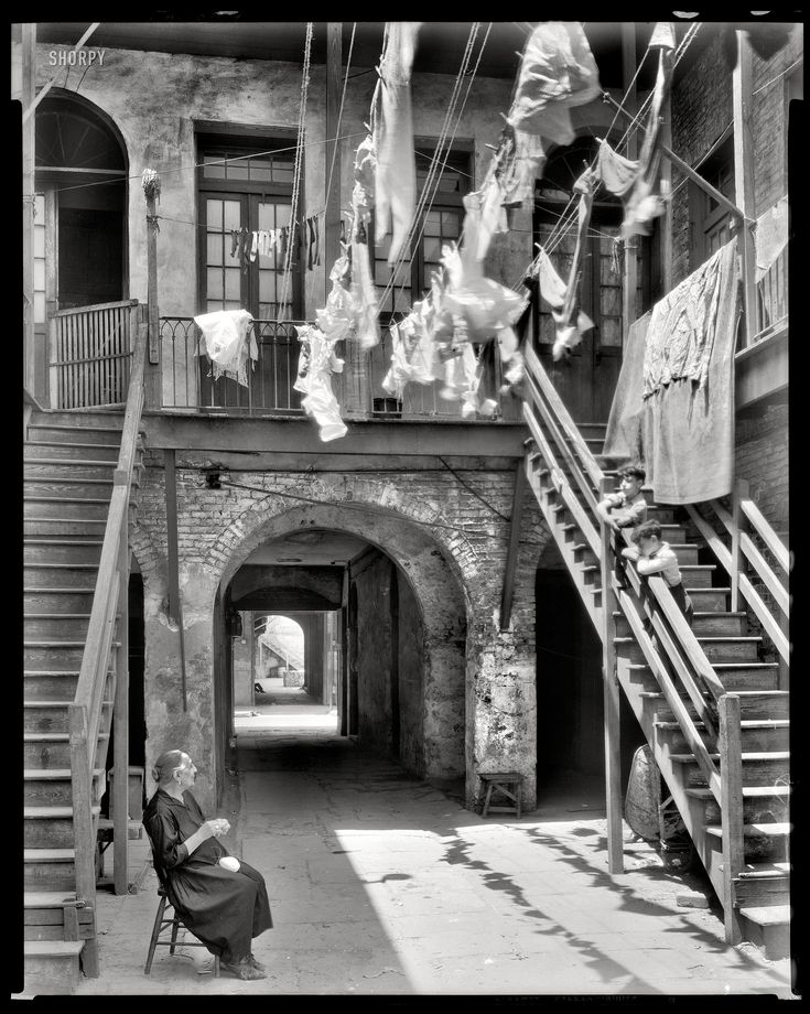 New Orleans circa 1937. Courtyard at 1133-1135 Chartres Street by Frances Benjamin Johnston