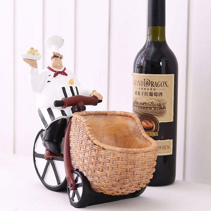 Goedkope Hars Chef wijnfles houder wijnrek met Glas rack bar creatieve woondecoratie gepersonaliseerde Gepersonaliseerde ornamenten voor bar, koop Kwaliteit wijn rekken rechtstreeks van Leveranciers van China:   van harte welkom om onze winkelharsflessenhouderWijnrek, wijnrek home decoration creatieve gepersona