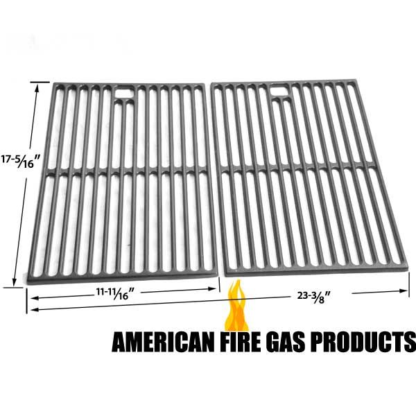 2 PACK CAST IRON COOKING GRID FOR SURE HEAT, SONOMA, PATIO CHEF, NEXGRILL, KMART, GRAND HALL GAS GRILL MODELS Fits Compatible Sure Heat Models : CGR27