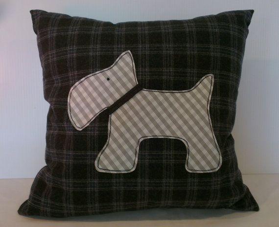 Scotty Dog cushion cover by handmadebysarahjane on Etsy