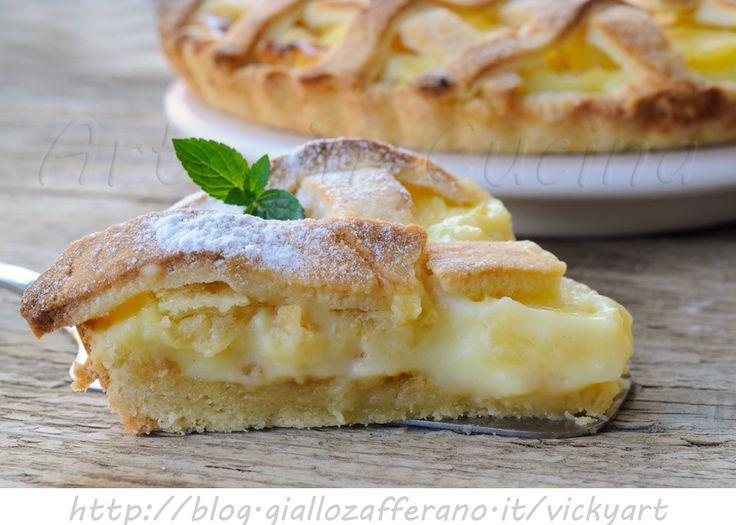 Crostata hawaiana crema e ananas ricetta dolce, torta da merenda, dolce all'ananas, ricetta facile da preparare, dolce alla frutta, crema pasticcera, pasta frolla