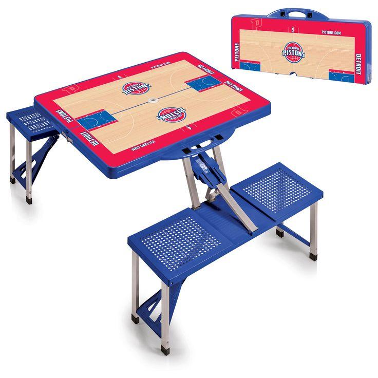 Detroit Pistons NBA Blue Portable Picnic Table