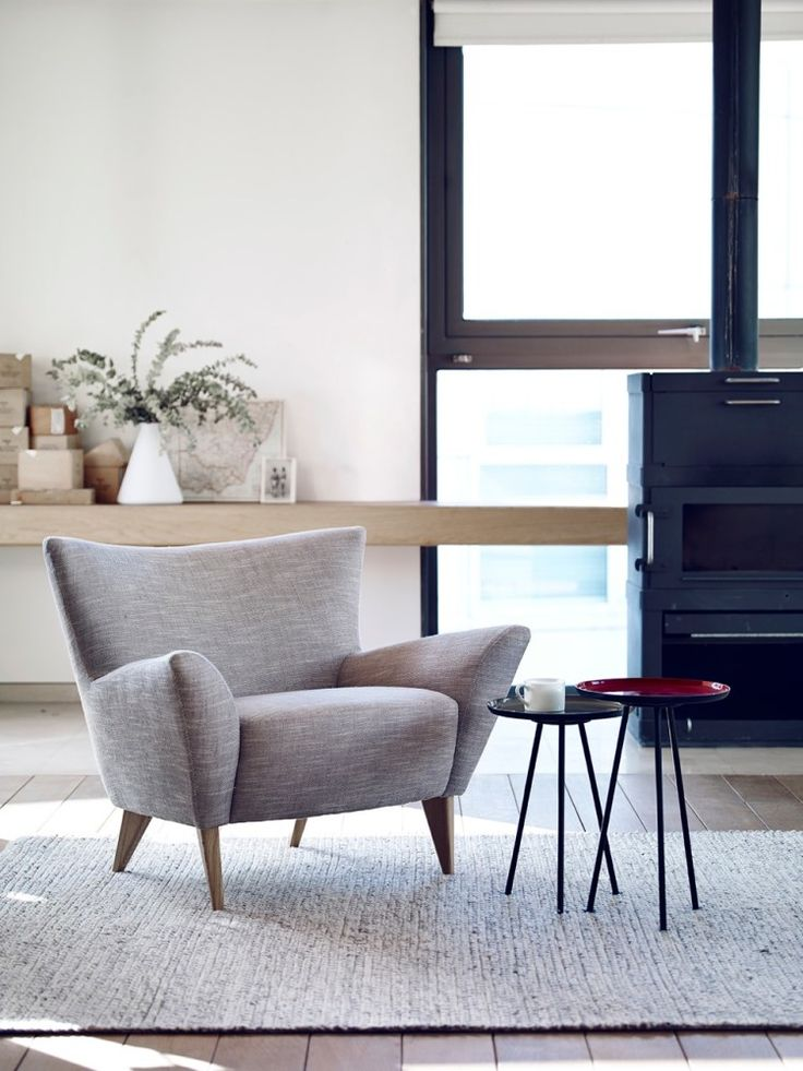 The Toros Armchair has been created by design legend Terence Conran for the Content collection. This contemporary compact chair is perfect for small spaces and with clean lines and a mid-century silhouette this chair is truly on trend. You can find this beautiful piece from Furntastic.