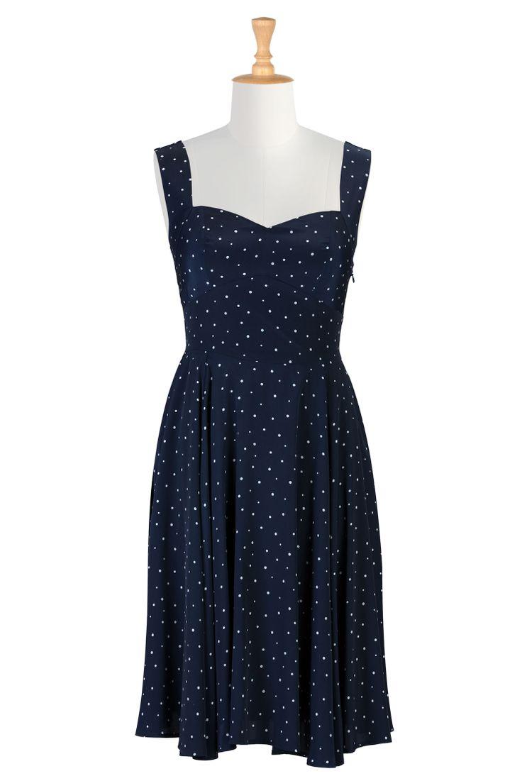 Shop women's designer fashion - A-line dress - Shop for A-line dresses | eShakti.com | #Nautical, #Resort, #Spring2013