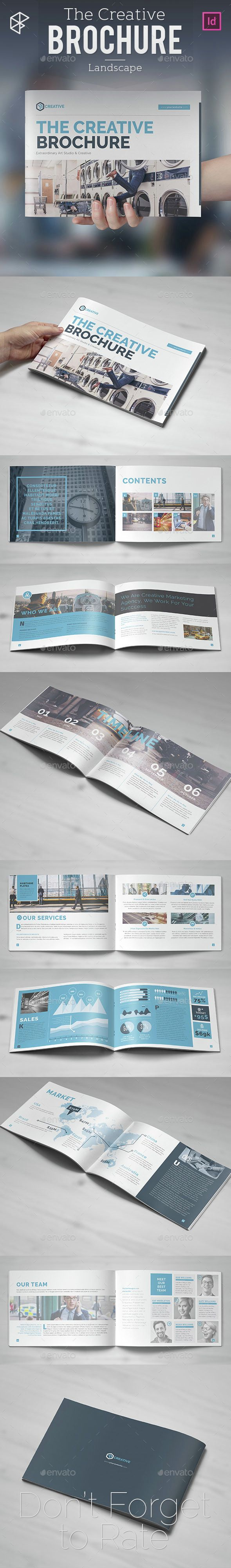 The Creative Brochure - Landscape. Template InDesign INDD. Download here: http://graphicriver.net/item/the-creative-brochure-landscape/14641310?ref=ksioks