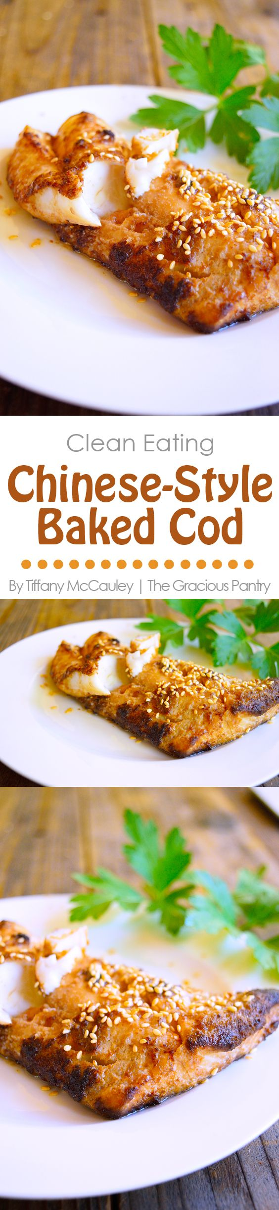 Clean Eating Recipes | Cod Recipes | Seafood Recipes | Fish Recipes ~ https://www.thegraciouspantry.com