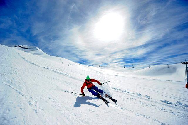 Estação de esqui Corralco no Chile