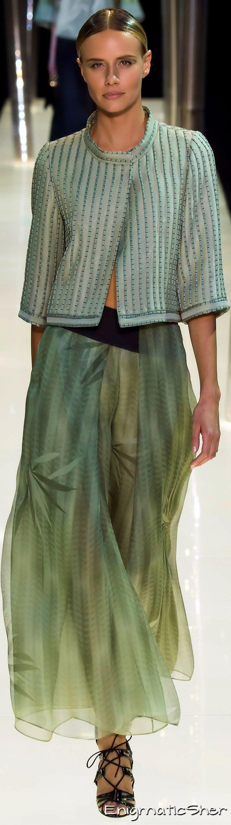 Giorgio Armani Privé Haute Couture, SS 2015. Very green.