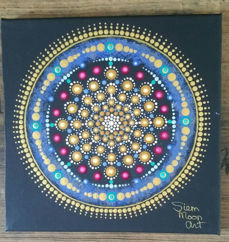 Dotting mandala Siem Moon Art