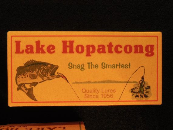 Lake Hopatcong New Jersey fishing lure boxes cabin by 4YourLake