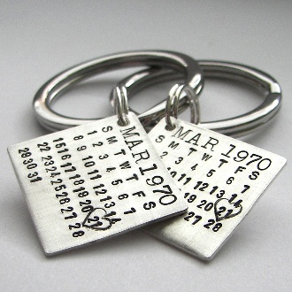 anniversary keychain- what a great gift idea!