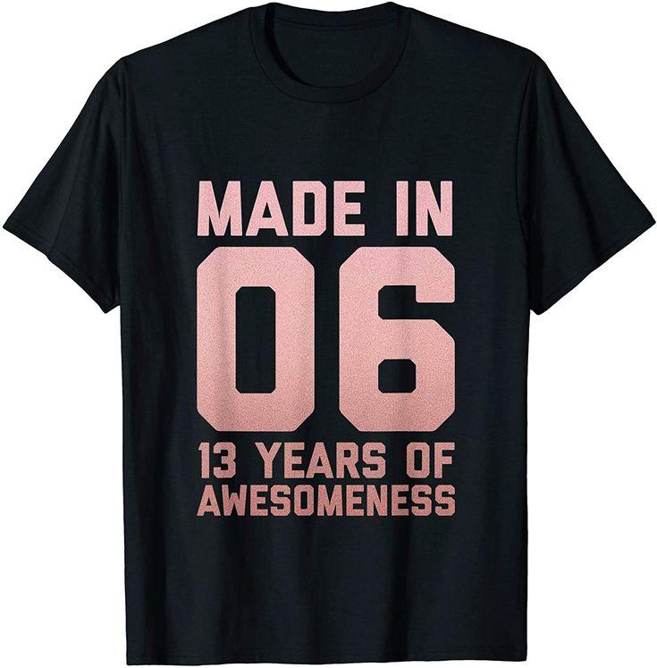 13th birthday shirt girl gift thirteen age 13 year old