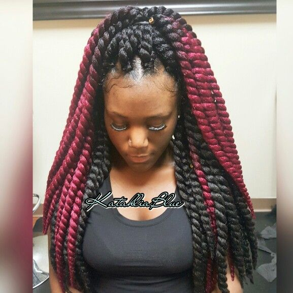 about Braids With Weave on Pinterest Box Braids, Blue Box Braids ...