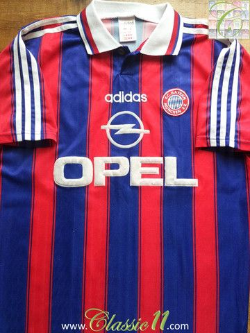 Relive Bayern Munich's 1995/1996 season with this vintage Adidas home football shirt.