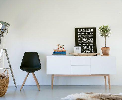 Scandinavian dressoir retro lounge - wallunit