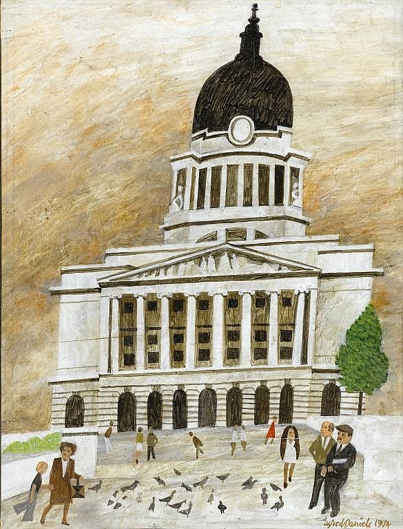 Alfred Daniels – NOTTINGHAM COUNCIL HOUSE, 1974, board, 25 x 19cm