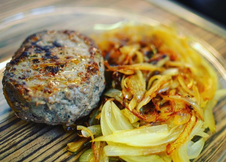 Beef burger with onions my favorite