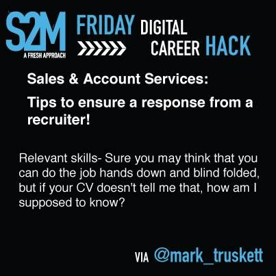 Career Hack #10 - Have your relevant skills on your CV!