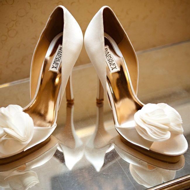 Simple Badgley Mischka Wedding Shoes