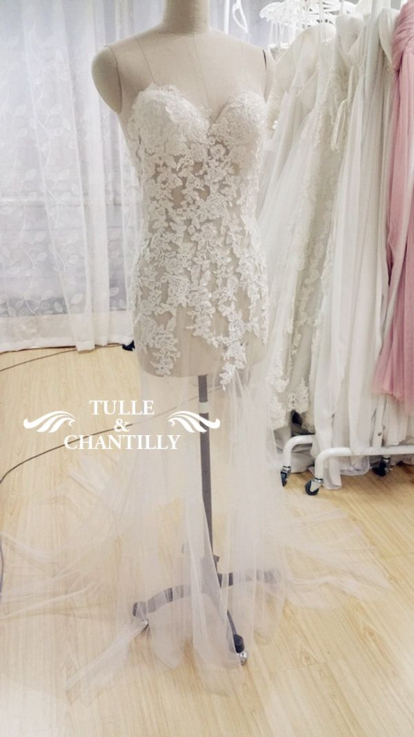 Simple  Design Your Own Wedding Dress Delicate Customized Mermaid Long Wedding Dress with Low Back