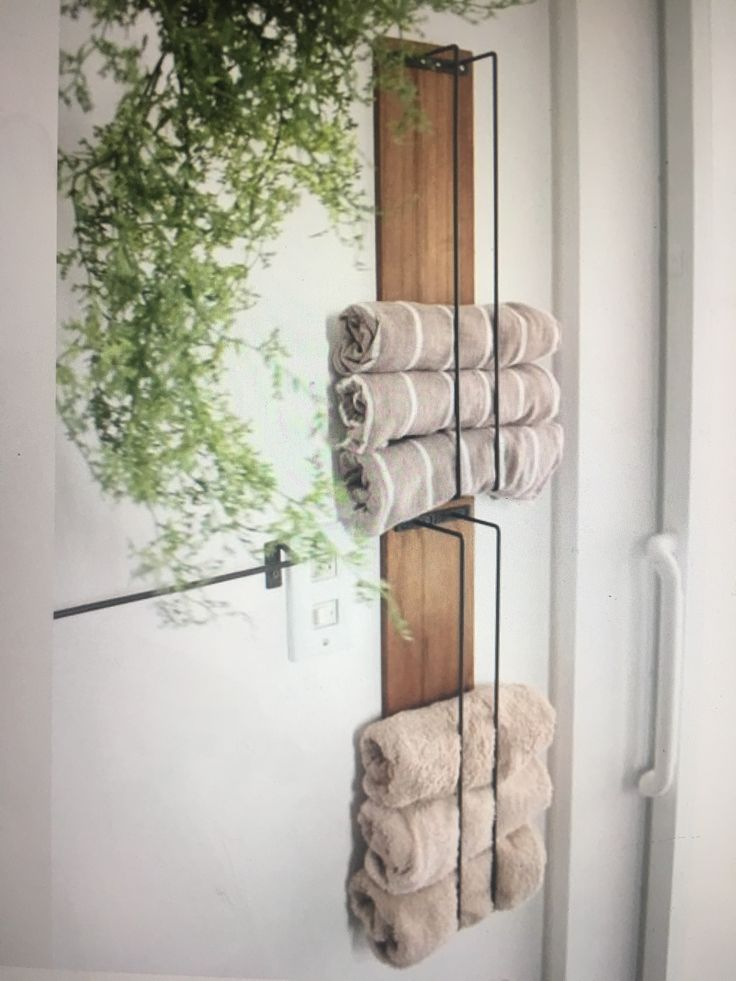 Small bath towel storage. A little more farmhouse chic but I like it.