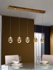 Lampade LED 5 luci: collezione ROCIO Oro Lineal