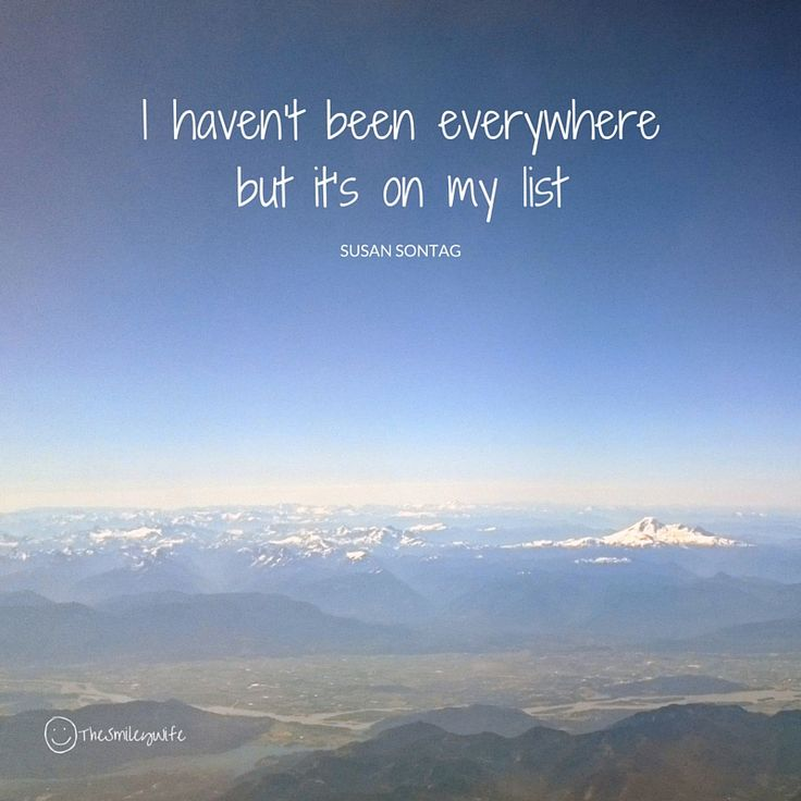 Sounds just like our list :) #TravelTuesday #smile #ourlife