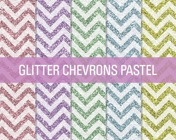 Glitter Chevron Textures Pastel by SonyaDeHart on @creativemarket