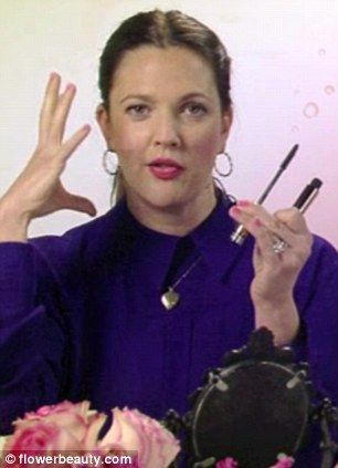Drag the mascara brush and don't forget to comb the wand: Drew Barrymore reveals secrets to the perfect 'spidery lashes'