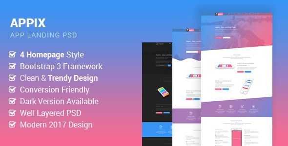 Appix - Creative App Landing Page PSD Template - Creative PSD Templates Download here : https://themeforest.net/item/appix-creative-app-landing-page-psd-template/19836135?s_rank=241&ref=Al-fatih