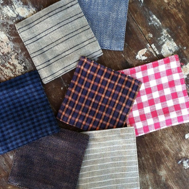 shop fog linen — Coasters: Blue Navy Check