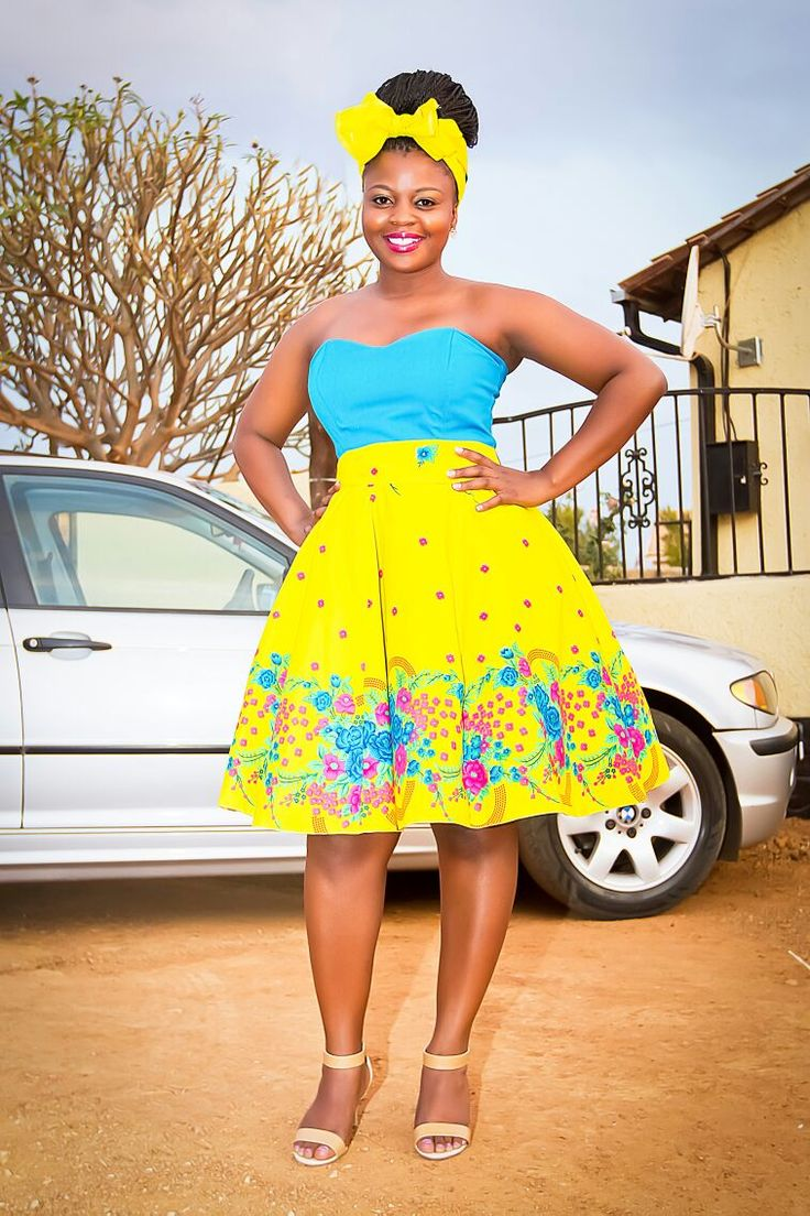 XiTsonga traditional cocktail strapless dress by Mx ...